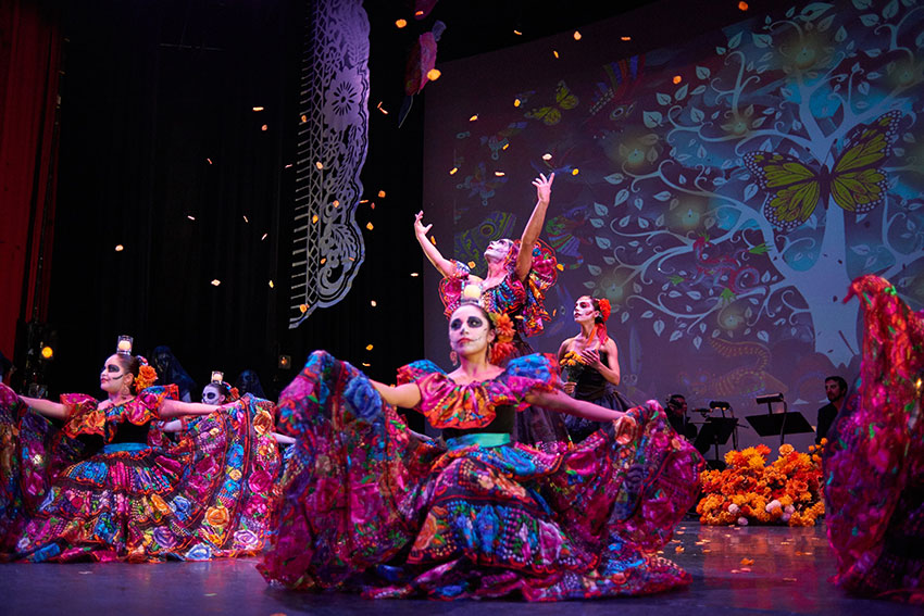 'Dia de los Muertos' and the tree of life courtesy of Stefanie Delgado / Calpulli Mexican Dance Company