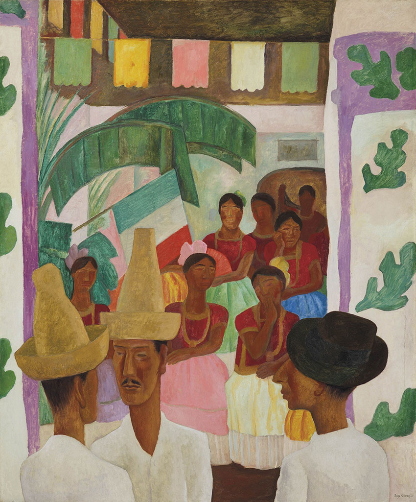 Diego Rivera 'The Rivals' (1931). Courtesy of Christie's New York.