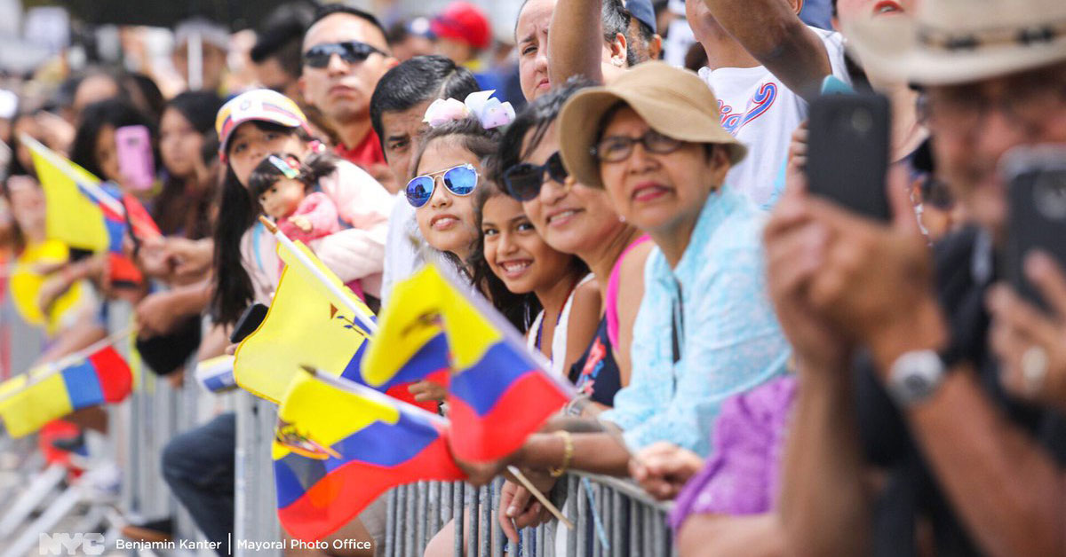 NYC Ecuadorian Parade. Courtesy of Benjamin Kanter / NYC Mayor's Office.