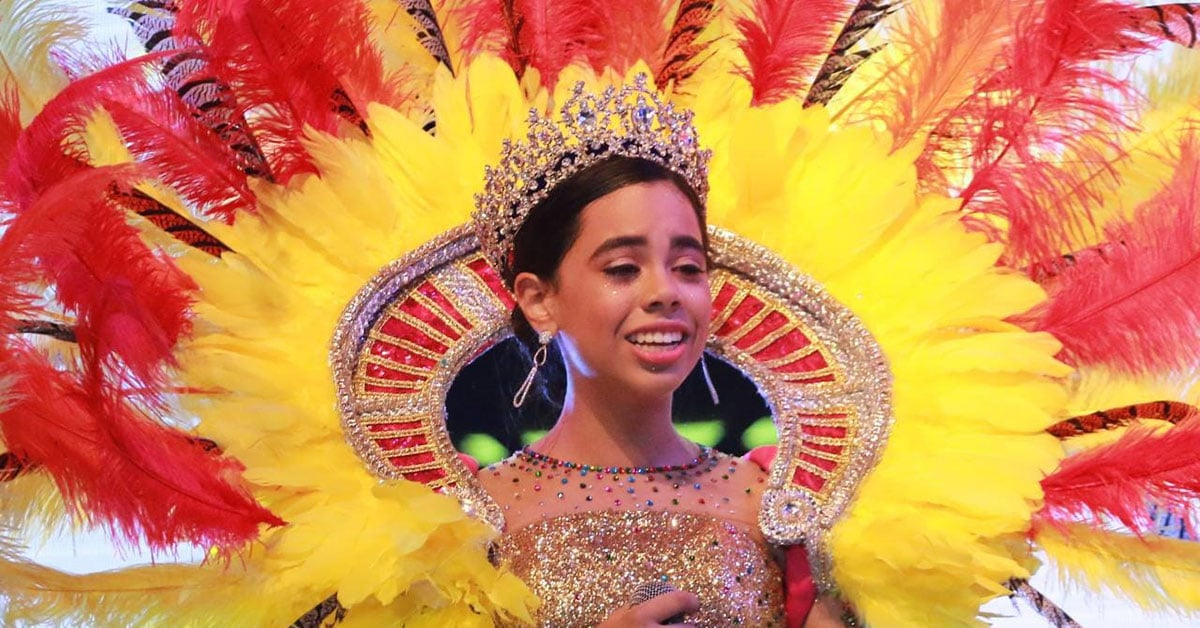 Isabella Chacon Ruiz, Barranquilla Carnival Children's Queen. Courtesy Centro Colombiano Internacional.