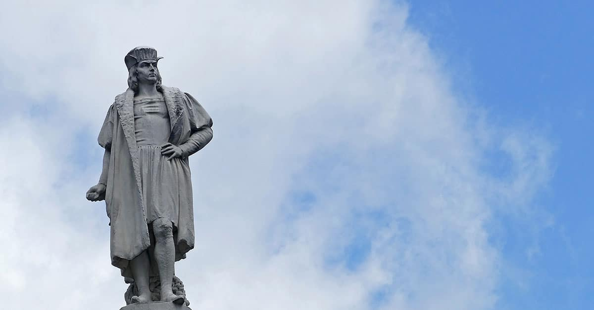 Columbus statue in Columbus Circle, New York City