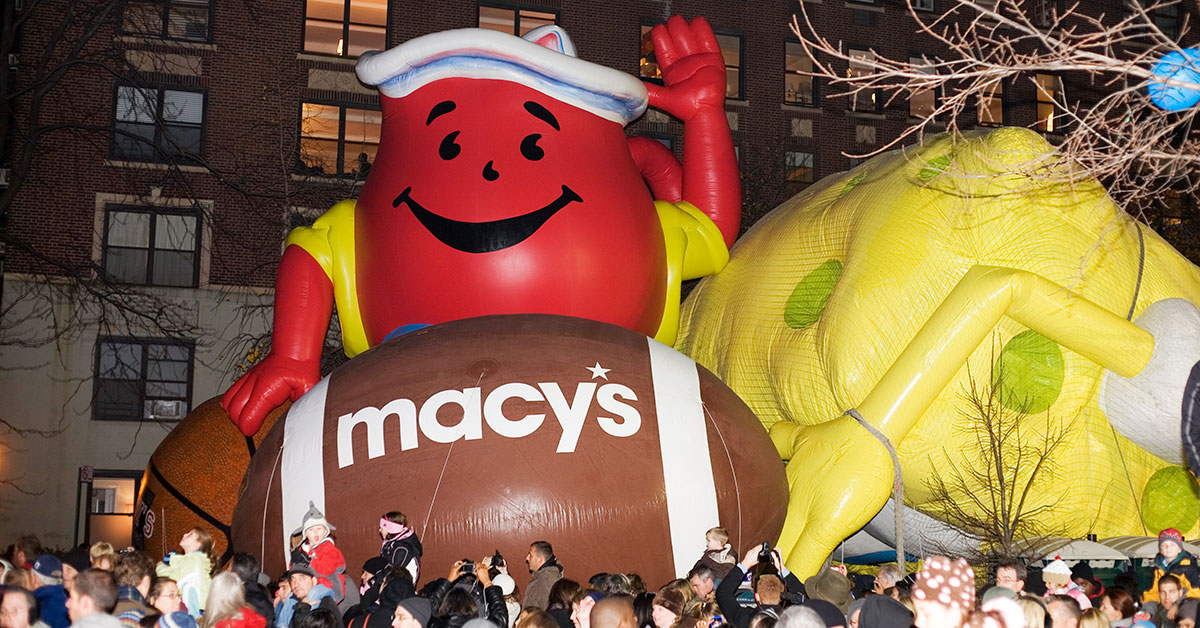 Macy's Thanksgiving Day Parade balloon inflation (Eddie Toro/Dreamstime)