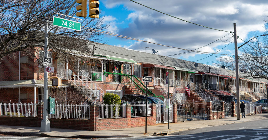 A residential street in Jackson Heights, Queens (James Andrews/Dreamstime)